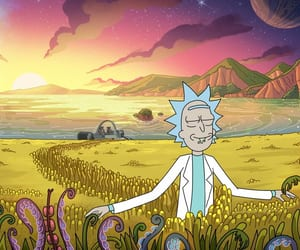 cartoon and rick and morty image