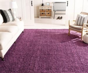 braided rug, purple rug, and living room rug image