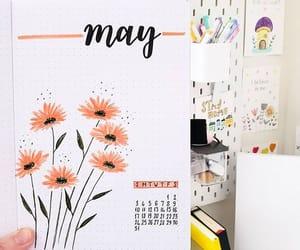 flowers, bujo ideas, and bujo image
