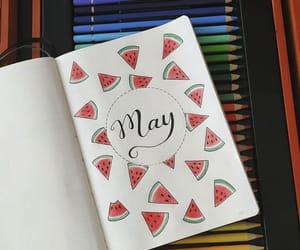 art, journal, and watermelon image