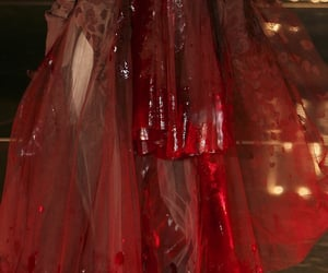 Christian Dior, red, and runway image
