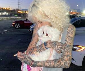 beautiful, blond, and tattoed image