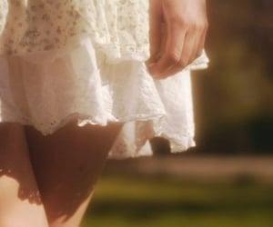 dress, girl, and skirt image