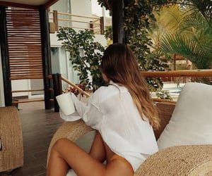 bikini, girl, and lounge image