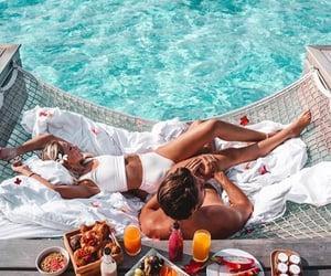 beach, romantic, and breakfast image