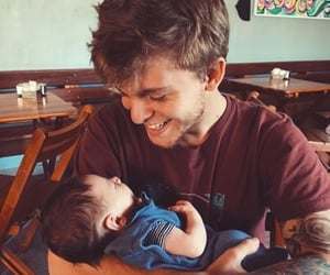 baby, lovely, and dad image