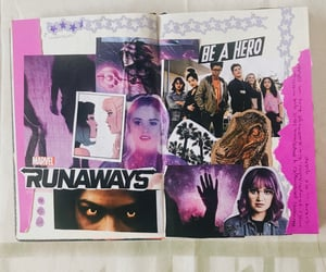 Collage, marvel runaways, and journal inspo image