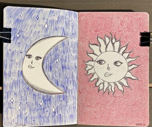aesthetic, moleskin, and sketchbook image