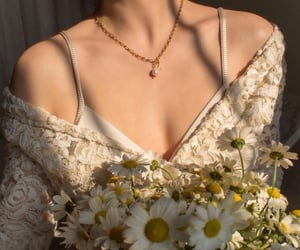 spring, flowers, and gold image