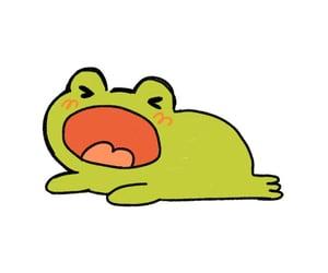 doodles, frog, and soft image