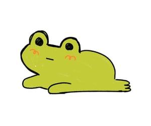 doodles, frog, and kawaii image