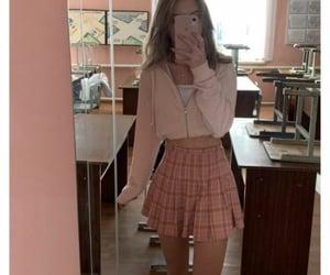 adorable, girl, and pink image