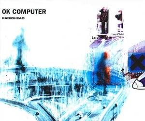 album cover, ok computer, and radiohead image