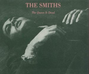 album cover, the smiths, and the queen is dead image
