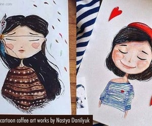 art, artwork, and coffee art image
