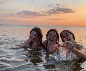bikini, happy, and beach image