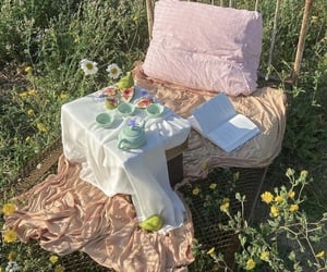 aesthetic, countryside, and picnic image