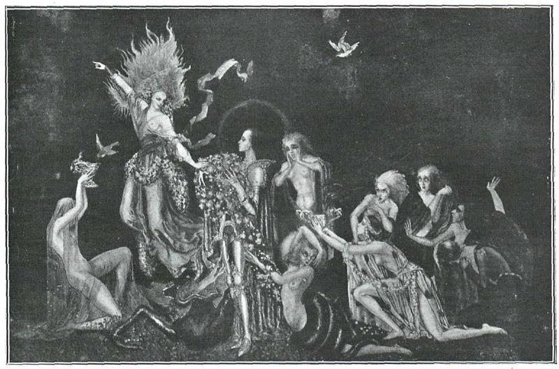 art deco, birds, and goddess image