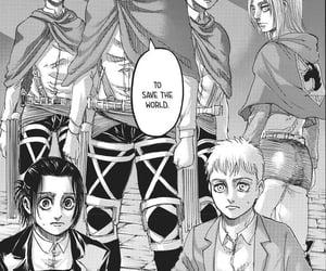 manga, shingeki no kyojin, and connie springer image