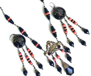 etsy, egyptian revival, and necklace earrings image