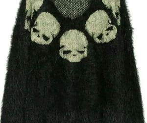black sweater, emo, and skulls image