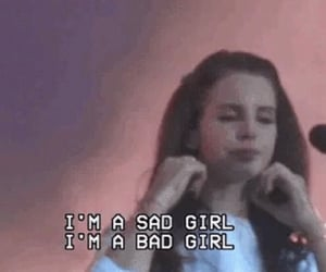 music, lana del rey, and sad girl image