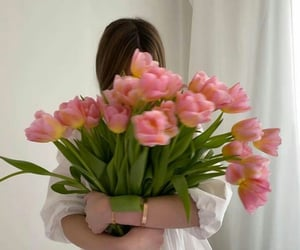 flowers, girls, and beautifulpictures image