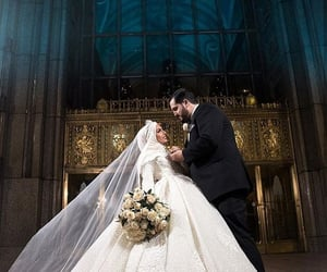 bride, couple, and romance image