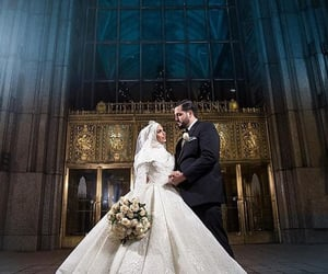 bride, couple, and love image