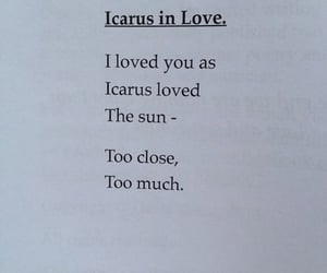 love, quotes, and icarus image