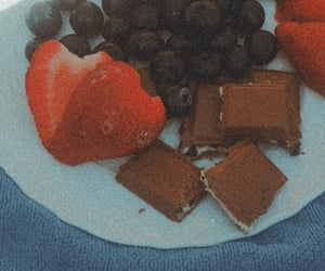berries, blueberries, and diary image