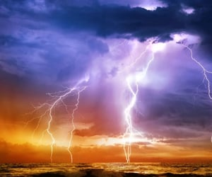 sky, beautiful, and lightning image
