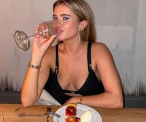 champagne, drinking, and eating image