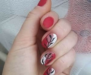 nail, white, and red image