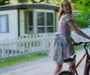 baby, bicycle, and dollcore image