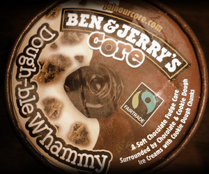 ben and jerrys, ice cream, and glass image