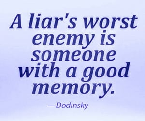 enemy, liar, and memory image