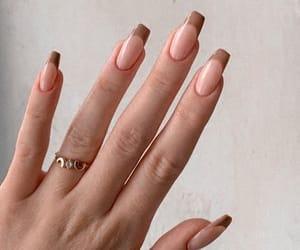 nails, fashion, and brown image