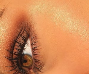 eyelashes, golden, and green image