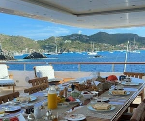 beach, boat, and breakfast image