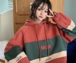 hoodie korean girls image