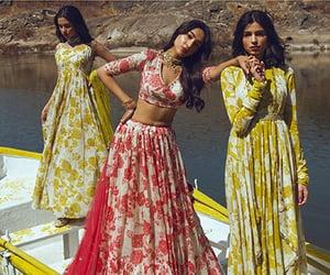 fashion, sari, and traditional image