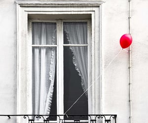 balloons, curtains, and window image