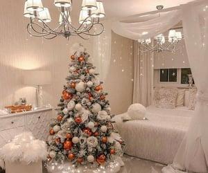 bedroom, christmas tree, and interior image