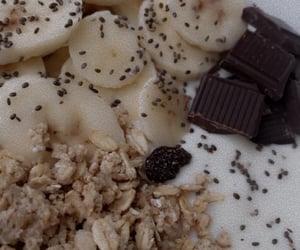 banana, chocolate, and granola image
