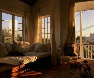 cozy, decor, and sunset image