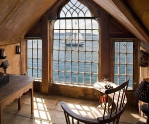 sea, house, and view image