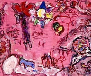 art, chagall, and paintings image