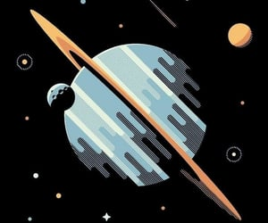 wallpaper, planet, and saturn image