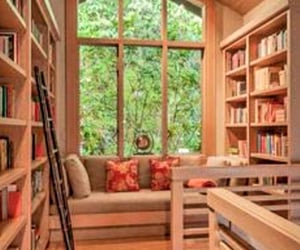 library, homedecor, and dreamhomes image